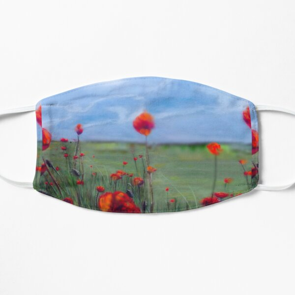 Poppy field painting Lest we forget Flat Mask