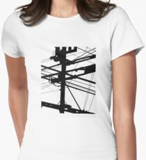 Power Lines Women's Fitted T-Shirt