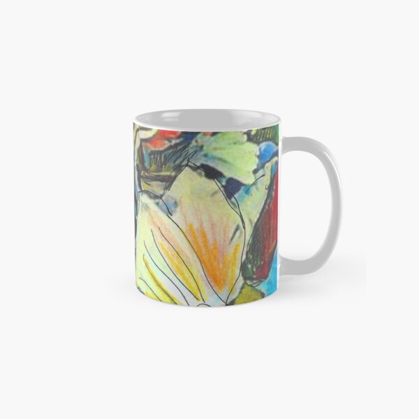 Iris Floral Abstract Design- Flower Picture Classic Mug