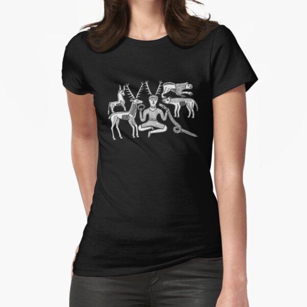 Dios Cernunnos y Animales del Caldero Gundestrup Camiseta entallada