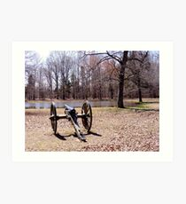 Cannon at Shiloh Battlefield Art Print