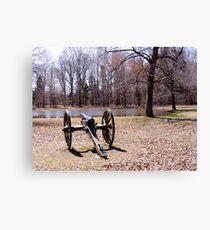 Cannon at Shiloh Battlefield Canvas Print