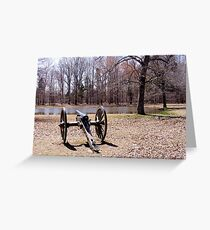 Cannon at Shiloh Battlefield Greeting Card