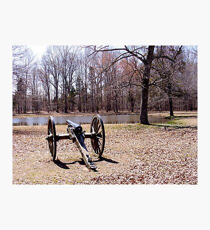 Cannon at Shiloh Battlefield Photographic Print
