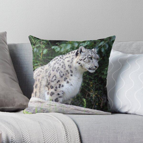 Snow Leopard Dshamilja Throw Pillow