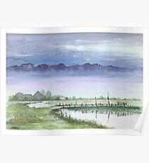 TRANQUIL BEAUTY - AQUAREL Poster