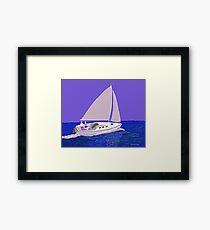 Sailing Blue Ocean Framed Print