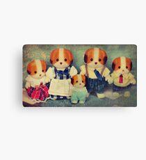 Chiffon Dog Family Canvas Print