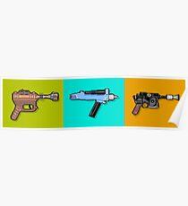 Raygun Phaser Blaster Poster