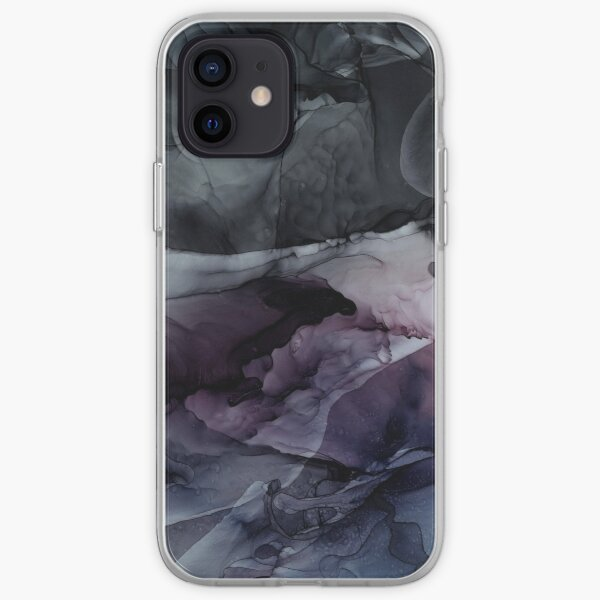 Moody Dark Chaos Inks Abstract iPhone Soft Case
