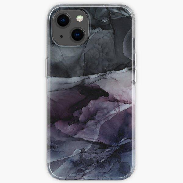 Encres Moody Dark Chaos Abstract Coque souple iPhone