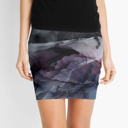 Moody Dark Chaos Inks Abstract Mini Skirt