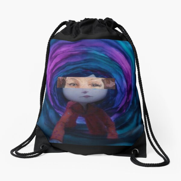 Coraline Jones Drawstring Bag By Rachiearts Redbubble