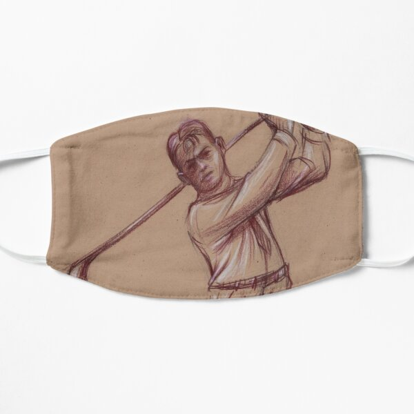 Bobby Jones - Pencil drawing of the Legendary Golfer Mask
