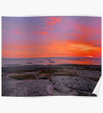 Cadillac Mountain Sunrise  - Acadia Poster