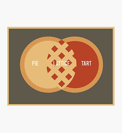 Pie, Tart or Lattice Photographic Print