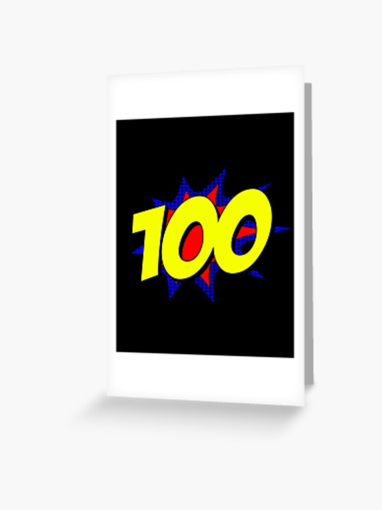 Superhero 100 Years Old Birthday Greeting Card By Flippinsg Redbubble