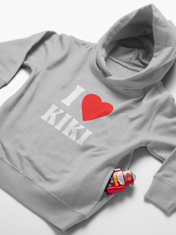 Alternate view of I Love Kiki Toddler Pullover Hoodie