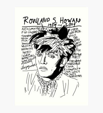 Rowland S. Howard Tribute Art Print
