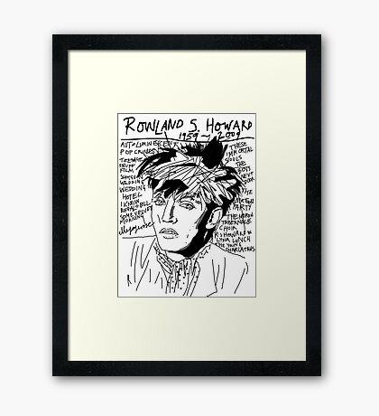 Rowland S. Howard Tribute Framed Print