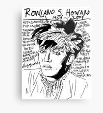 Rowland S. Howard Tribute Metal Print