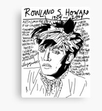 Rowland S. Howard Tribute Canvas Print