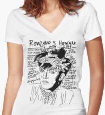 Rowland S. Howard Tribute Women's Fitted V-Neck T-Shirt