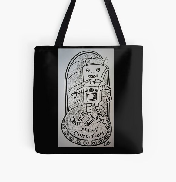 Mint condition defunkt robot All Over Print Tote Bag