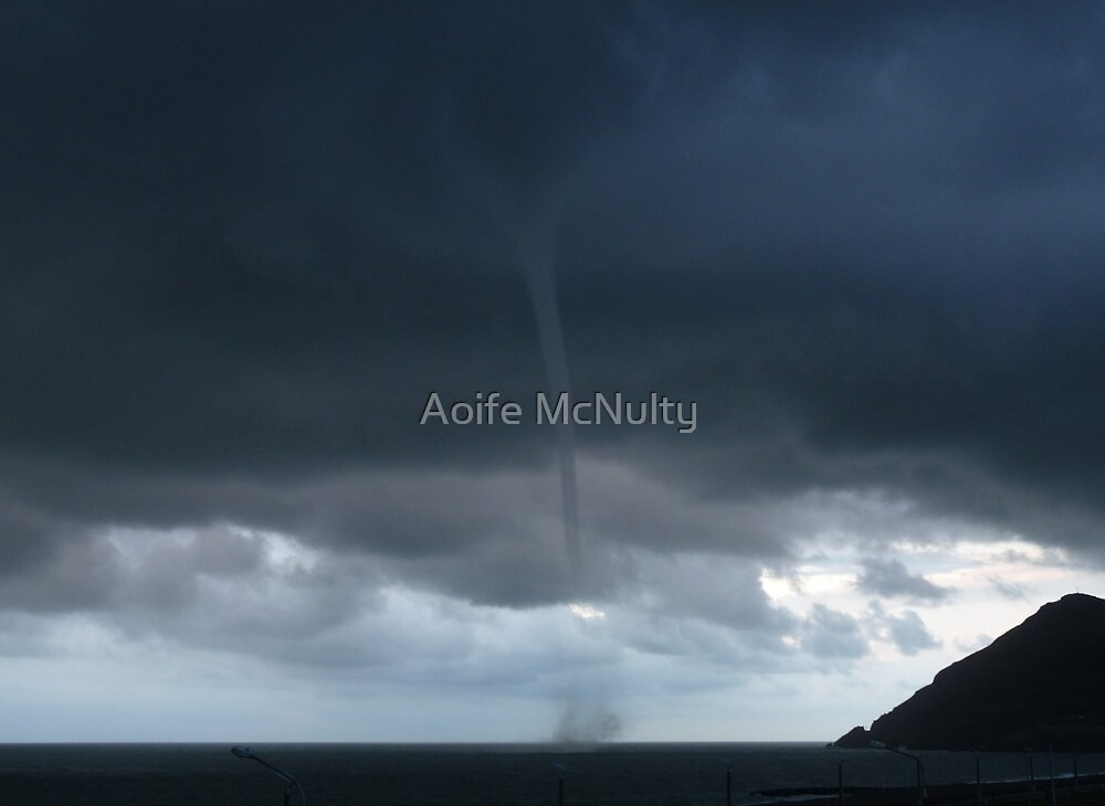 """Tornado""? Sea Spout in Bray Co.Wicklow Ireland by Aoife McNulty"