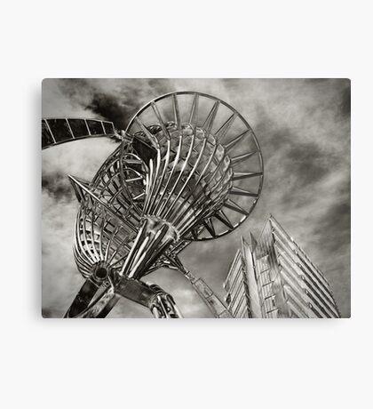 Sculpture and Building Metal Print