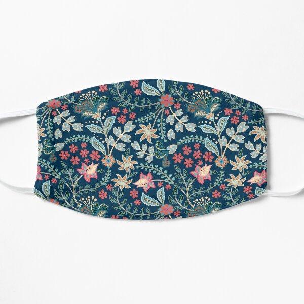 Summer Floral Blue Masque sans plis
