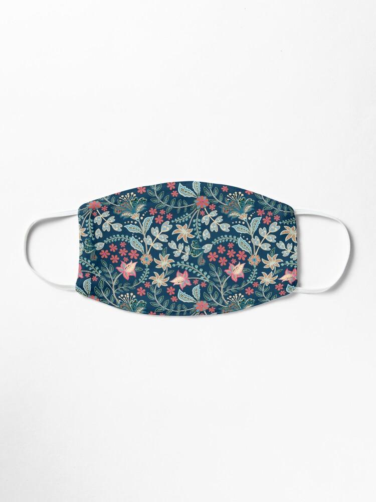 Alternate view of Summer Floral Blue Mask