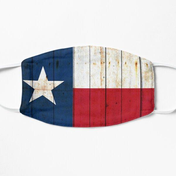 Texas Flag on Old Barn Wood Flat Mask