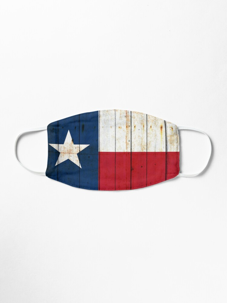 Alternate view of Texas Flag on Old Barn Wood Mask