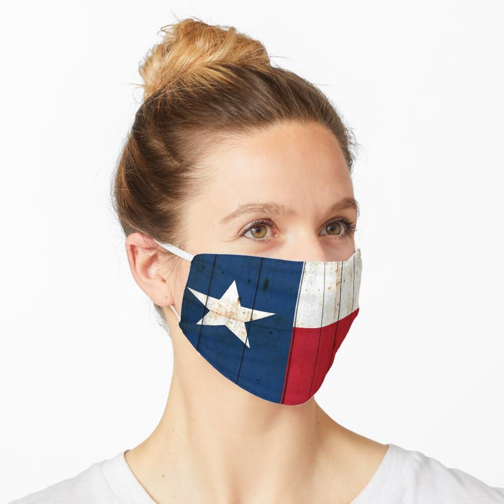 Texas Flag on Old Barn Wood Mask