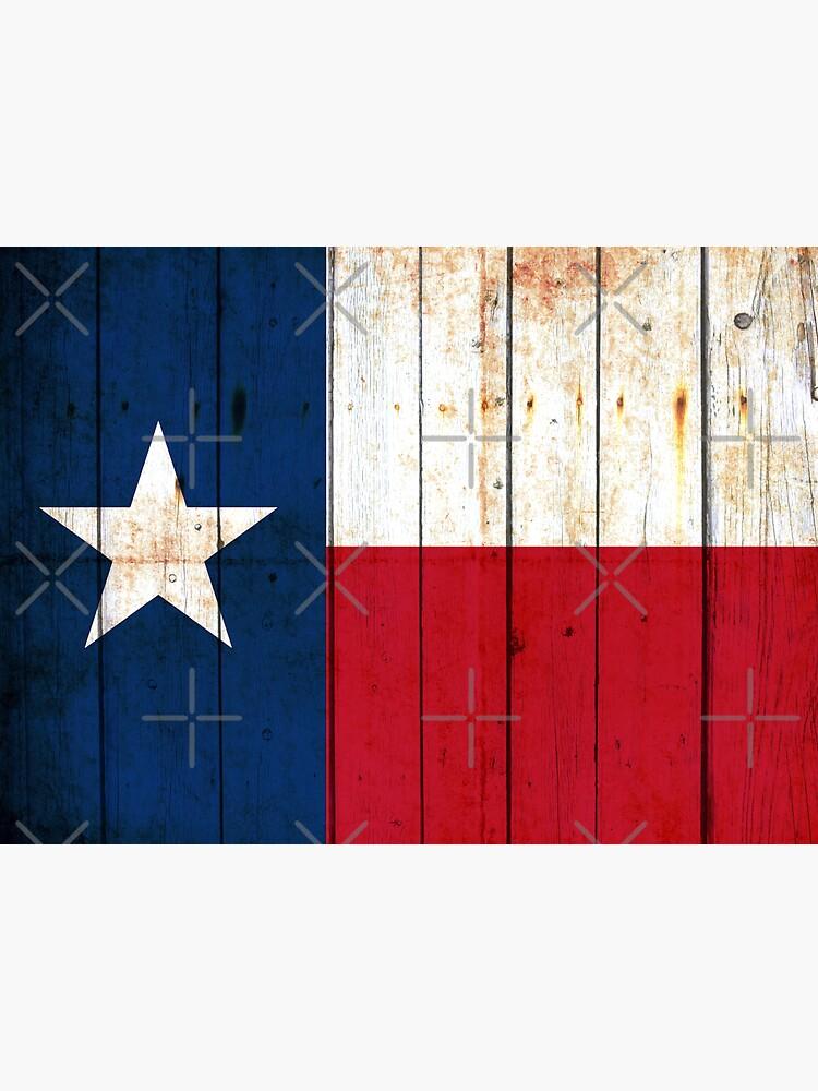 Texas Flag on Old Barn Wood by MolonLabeArt