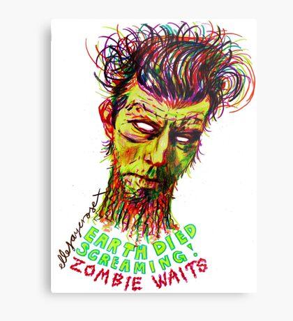 Zombie Waits Metal Print