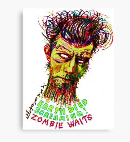 Zombie Waits Canvas Print