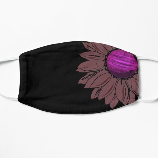 Cute Pink Sunflower - Floral Mask