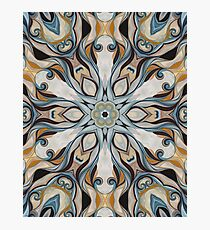 Baroque Earth tones Rosette- R107 Photographic Print
