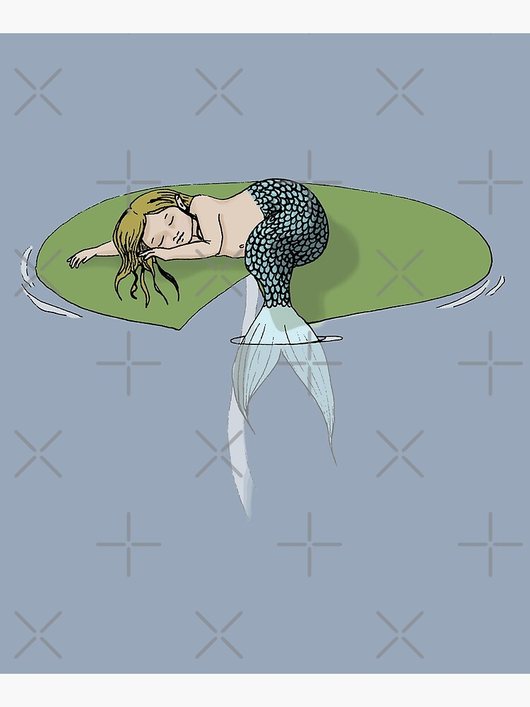 Sleeping Mermaid on a Lily Pad by EmilyBickell