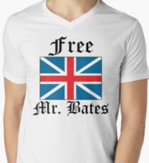 Free Mr. Bates Men's V-Neck T-Shirt