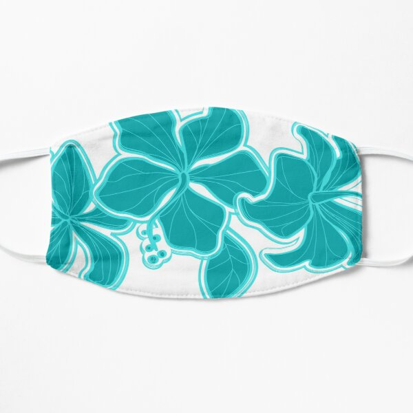 Kailua Hibiscus Hawaiian Engineered Floral Flat Mask