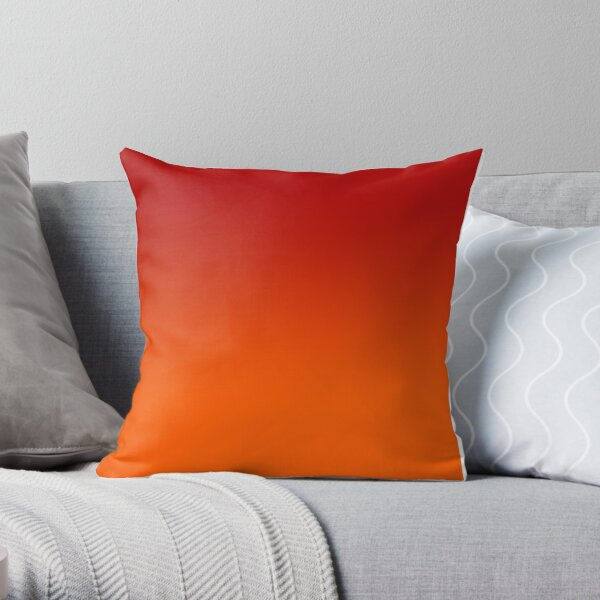 Red to orange ombre Throw Pillow