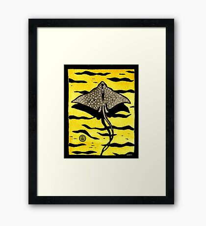 White Spotted Eagle Ray Framed Print