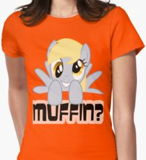 Derpy Hooves - Muffin? Womens Fitted T-Shirt