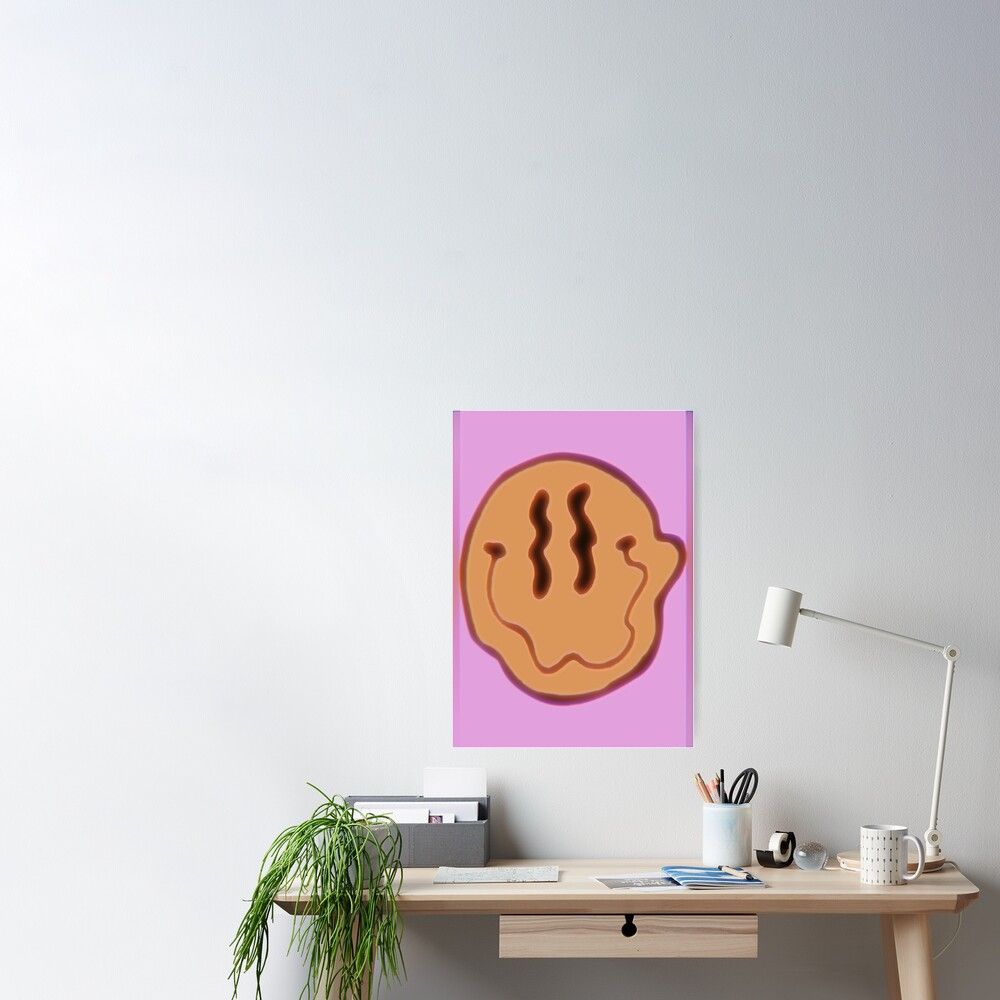 trippy smiley Poster