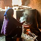 Chinese Woman Cooking by Jeanne Frasse