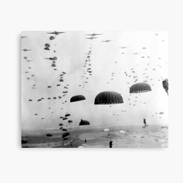 Airborne Mission During WW2 Painting Metal Print