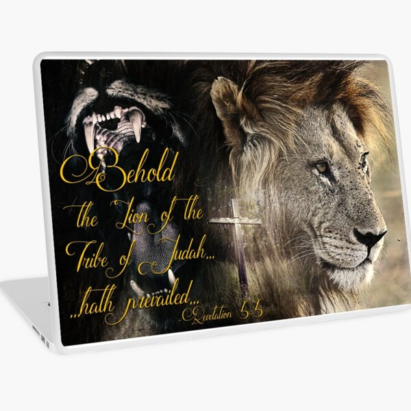 Behold, The Lion Of The Tribe Of Judah Laptop Skin